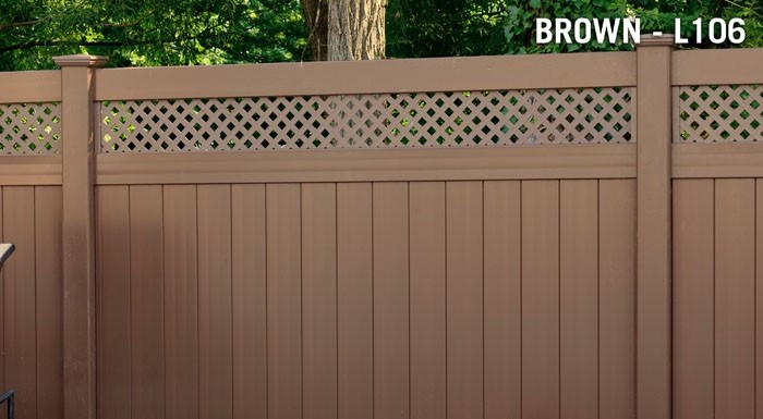 brown-vinyl-privacy-fence-with-lattice