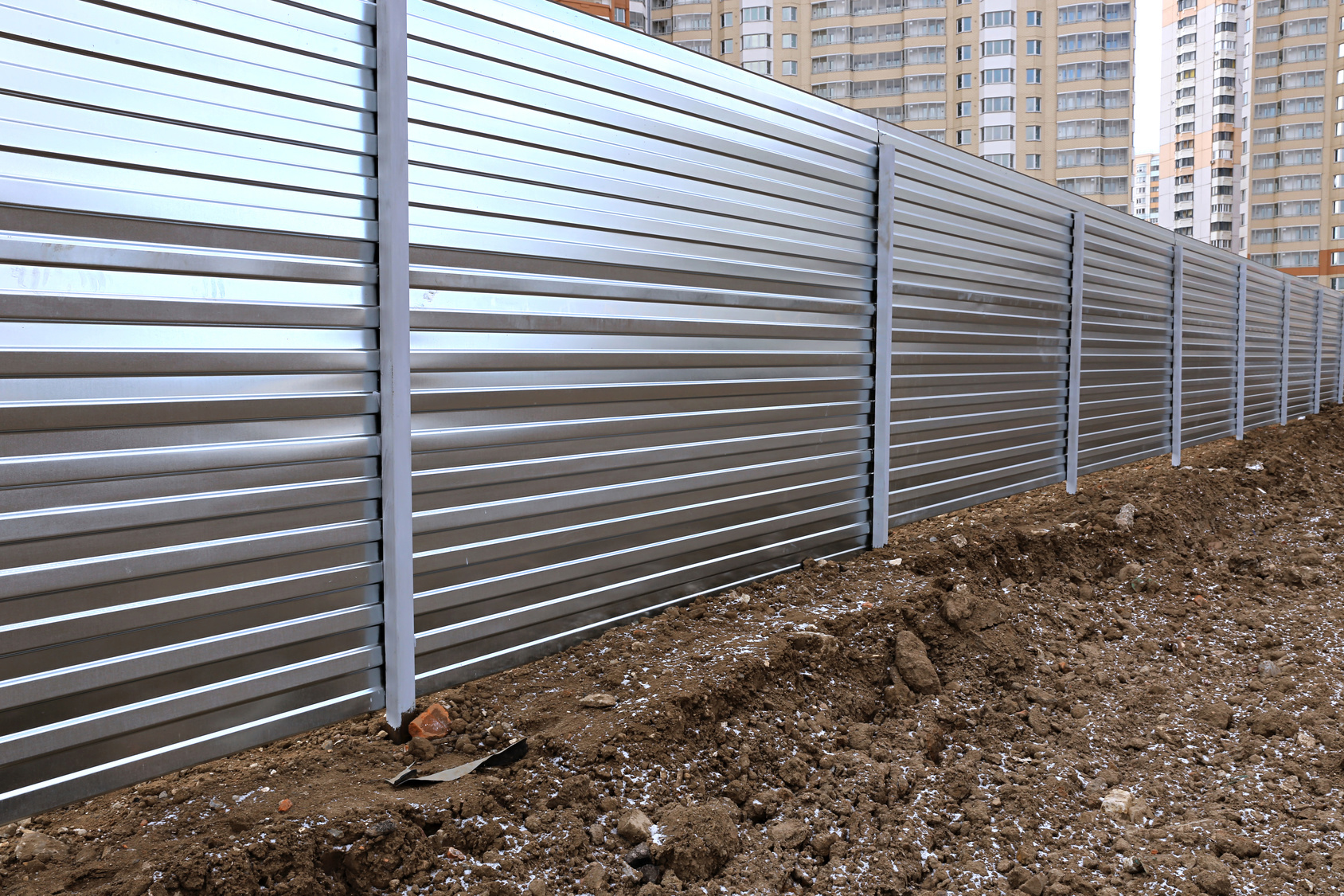 professional fence made of metal flooring