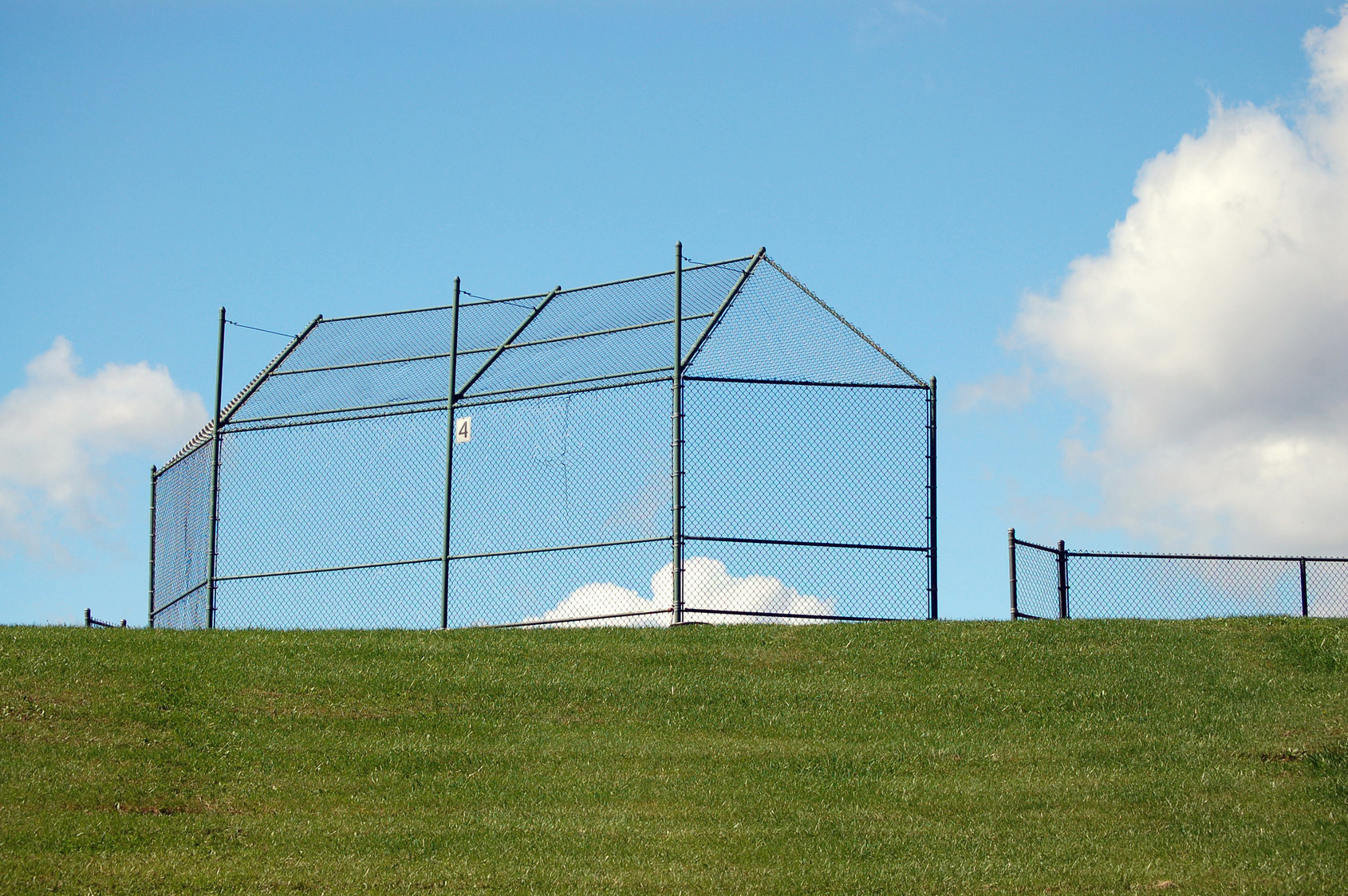 ballfield fence for school in knoxville